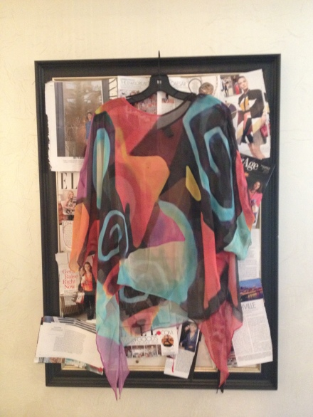 A Jackson Pollock-esque, silk top from Paracelso in Soho, NYC